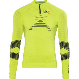 X-Bionic Effektor Trail Running LS Zip Up Shirt Men Green Lime/Black